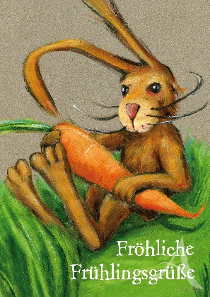 """Postkarte """"Fröhliche Frühlingsgrüße"""""""