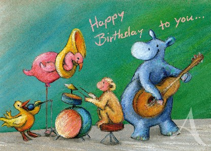 "Postkarte ""Happy Birthday to you..."""