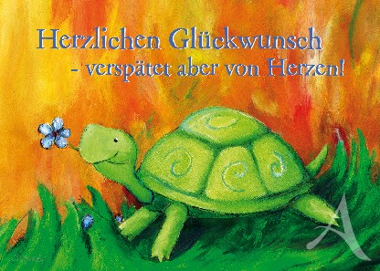 "Postkarte ""Schildkröte"""