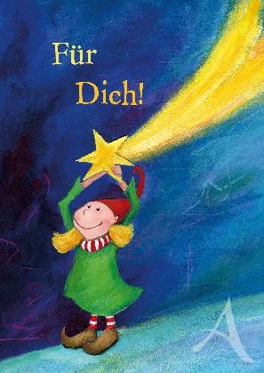 """Postkarte """"Für Dich (hole ich die Sterne vom Himmel)"""""""