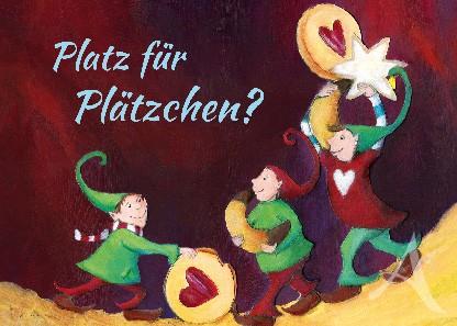"""Postkarte """"Platz für Plätzchen?"""""""