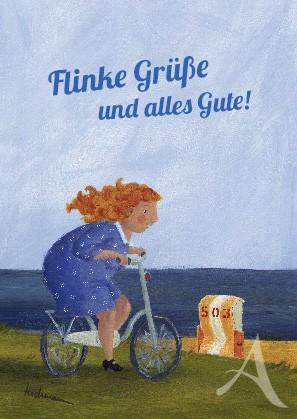 "Postkarte ""Flinke Grüße und alles Gute!"""
