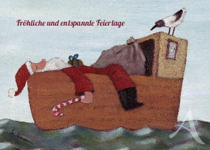 """Postkarte """"Fröhliche und entspannte Feiertage"""""""
