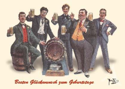 """Postkarte """"Besten Glückwunsch zum Geburtstage"""""""