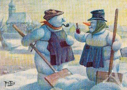 """Postkarte """"Wintermorgen"""""""