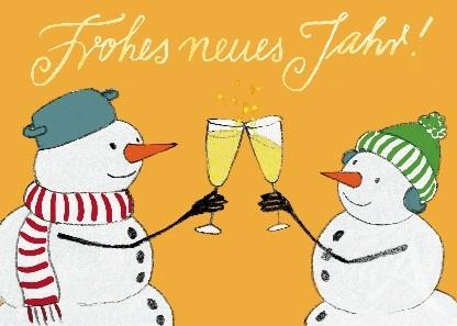 """Postkarte """"Frohes neues Jahr"""""""