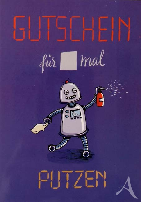 """Postkarte """"GUTSCHEIN für x mal Putzen"""""""