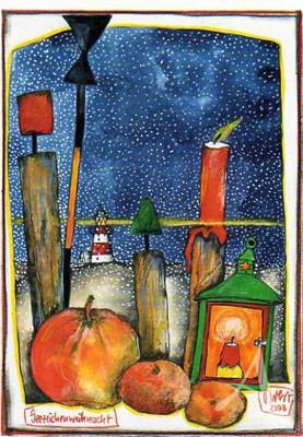 """Postkarte """"Seezeichenweihnacht"""""""