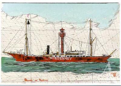 """Postkarte """"Damals vor Norderney"""""""