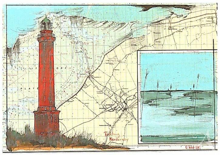 "Postkarte ""Richtung Norderney"""