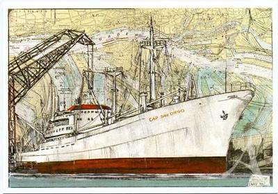 "Postkarte ""Cap San Diego"""