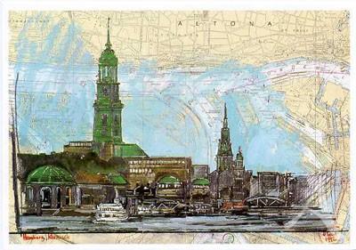 "Postkarte ""Hamburg klassisch"""
