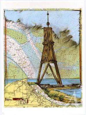 "Postkarte ""Kugelbake, Cuxhaven"""