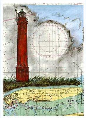 "Postkarte ""Leuchtturm Norderney"""