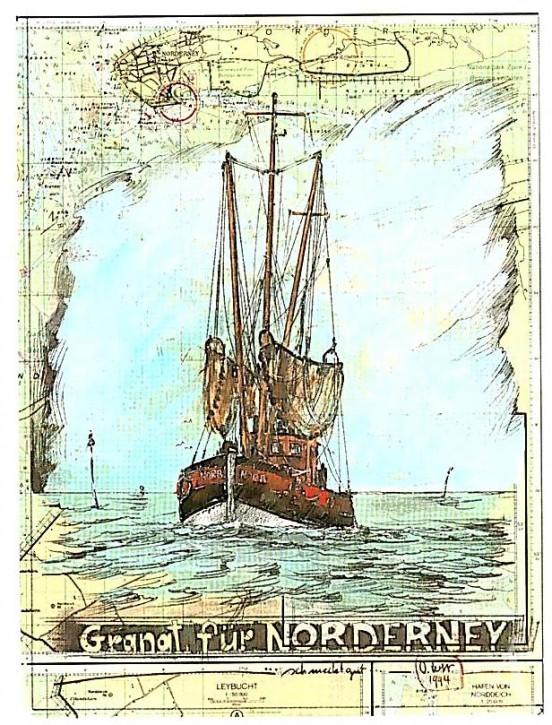 """Postkarte """"Granat für Norderney"""""""