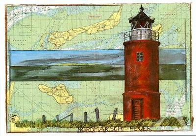 """Postkarte """"Nordmarsch- Feuer"""""""