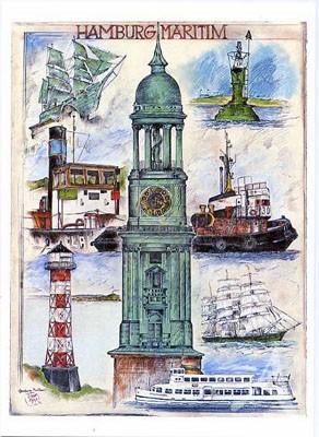 "Postkarte ""Hamburg maritim"""