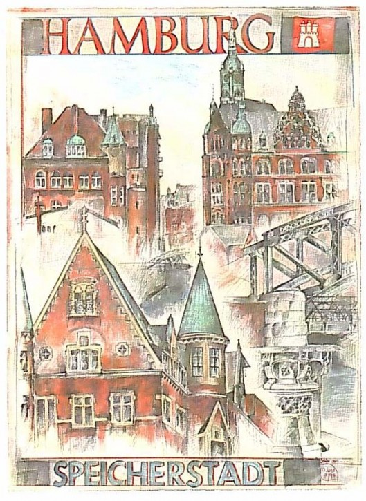 "Postkarte ""Hamburg Speicherstadt"""