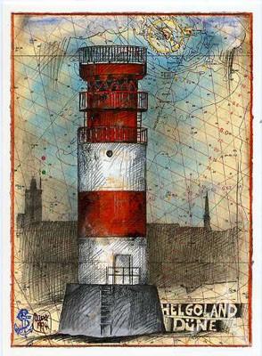 "Postkarte ""Helgoland, Düne"""