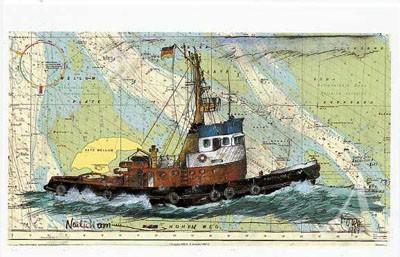 "Postkarte ""Neulich am Hohen Weg"""