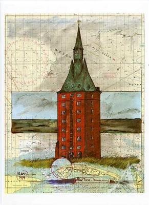 "Postkarte ""Wangerooge, Alter Turm"""