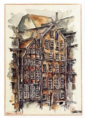 """Postkarte """"Deichstraße I, Hamburg"""""""