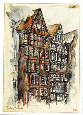 "Postkarte ""Deichstraße II, Hamburg"""