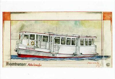"Postkarte ""Hamburger Alsterdampfer"""