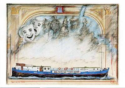 """Postkarte """"Theaterschiff, Hamburg"""""""
