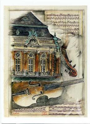"""Postkarte """"Musikhalle, Hamburg"""""""
