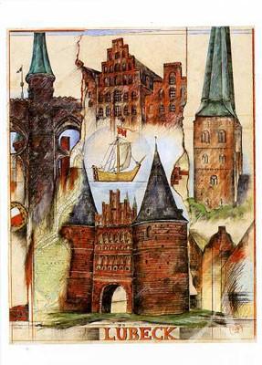 """Postkarte """"Lübeck"""""""