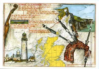 """Postkarte """"Bonnie Glenshee"""""""