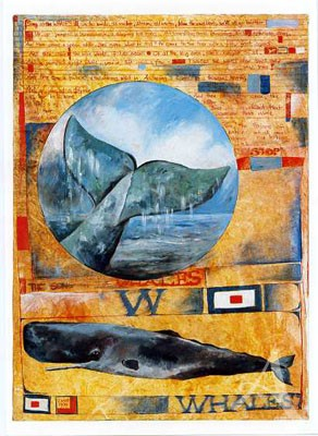 "Postkarte ""Song of the Whales"""