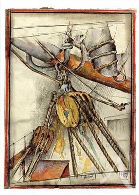 """Postkarte """"An Bord"""""""