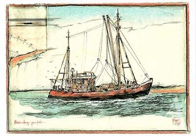"Postkarte ""Krabbenfang"""