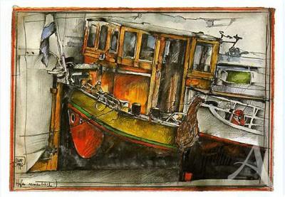 """Postkarte """"Hafen, romantisch"""""""