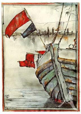 "Postkarte ""Stellnetzfischerei"""