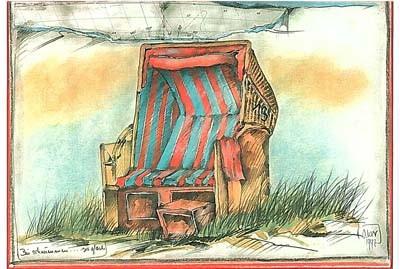 "Postkarte ""Bin schwimmen"""