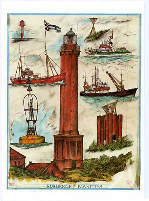 """Notizbuch """"Leuchtturm"""" - Blankbook von OLE WEST"""