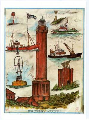 "Postkarte ""Norderney - Maritim"""