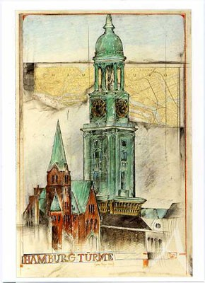 "Postkarte ""Hamburg Türme"""