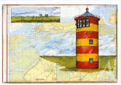 """Postkarte """"Küstenland"""""""
