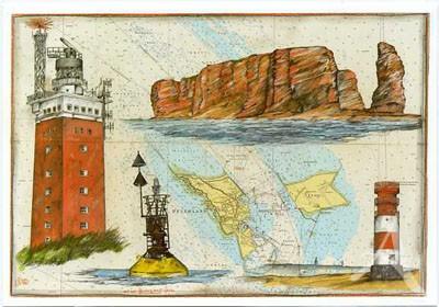 "Postkarte ""...mal nach Helgoland fahren"""