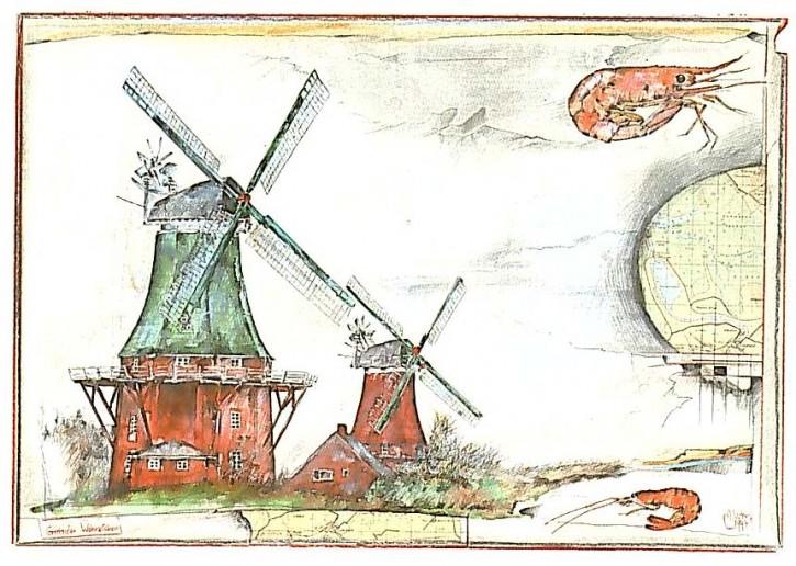 """Postkarte """"Greetsieler Wahrzeichen"""""""