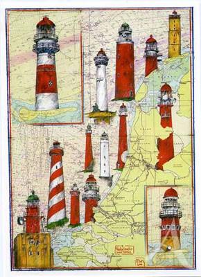 "Postkarte ""Hollands Leuchttürme"""