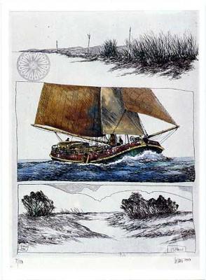 """Postkarte """"Flußland"""""""
