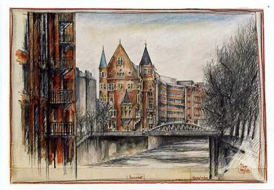 "Postkarte ""Speicherstadt, Hamburg"""