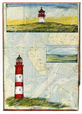"Postkarte ""Amrum - Land"""
