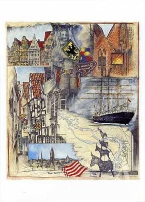"""Postkarte """"Bremer Spaziergang"""""""