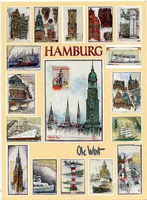 "Postkarte ""Schmuckblatt Hamburg"""